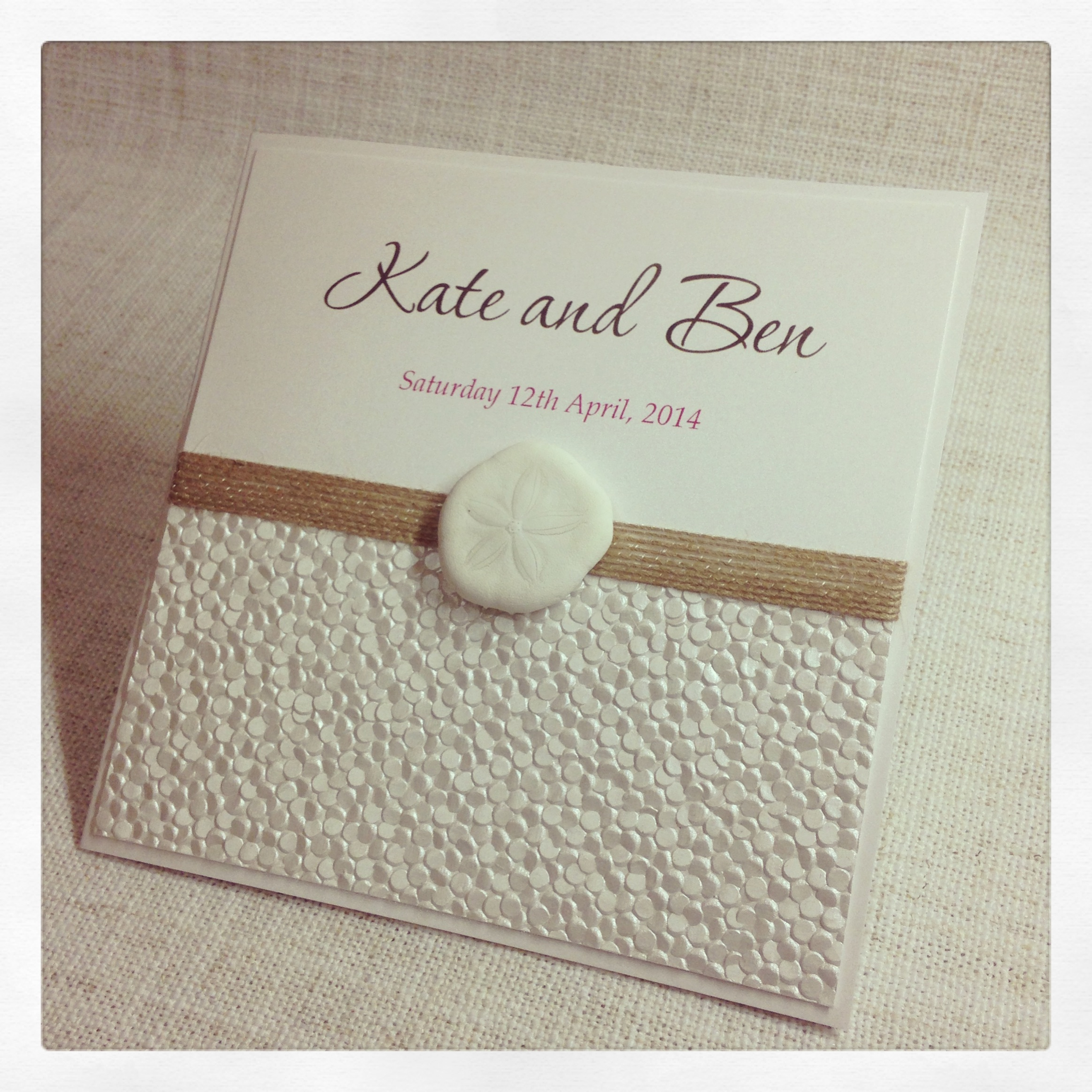 Ivory Pebble Elegant Invitation