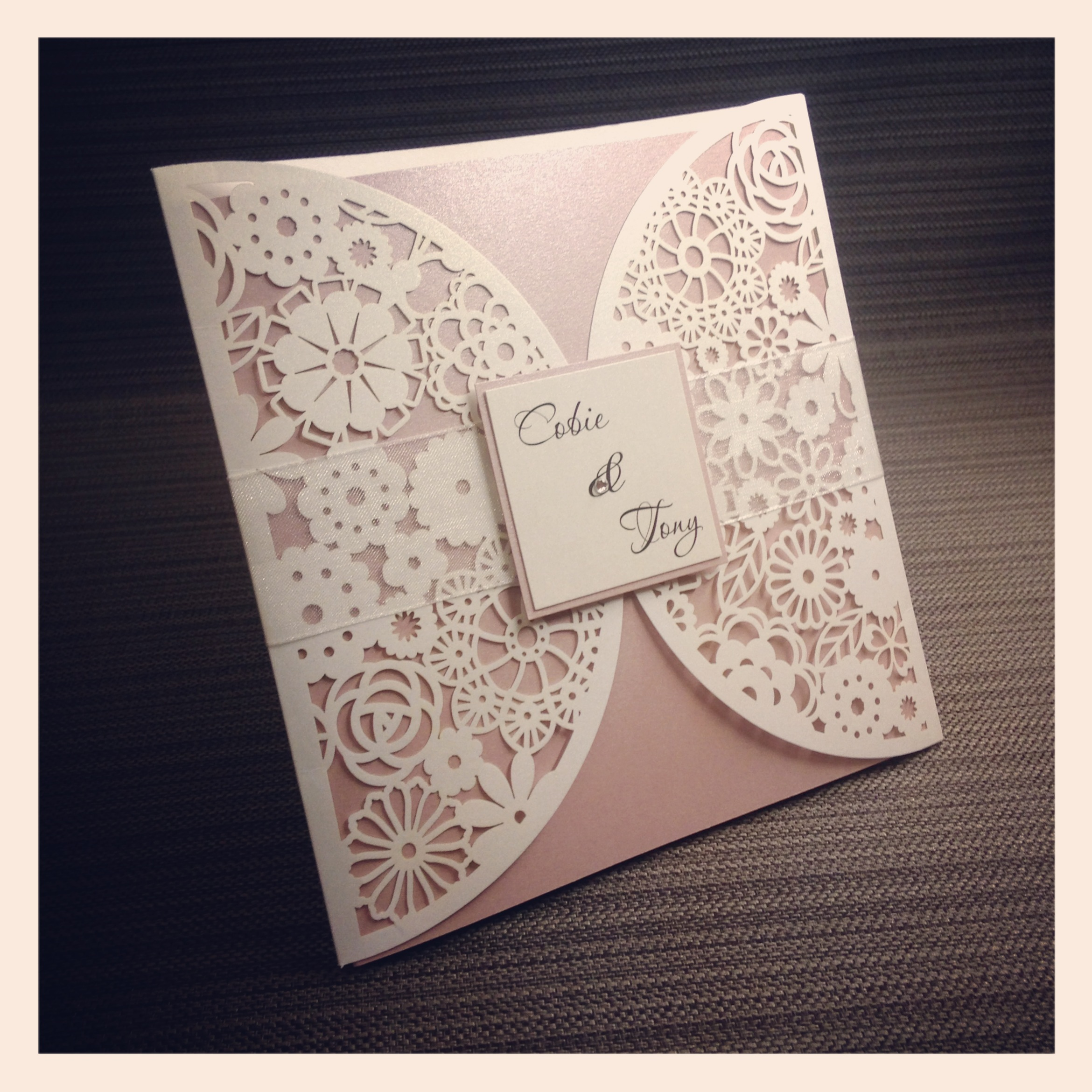 Luxe Laser Cut Wedding Invitation - Simply Stunning Stationery
