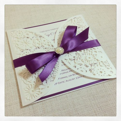 Simply-Stunning-Stationery-Wedding-Invitations-Purple-Lasercut-Brooch