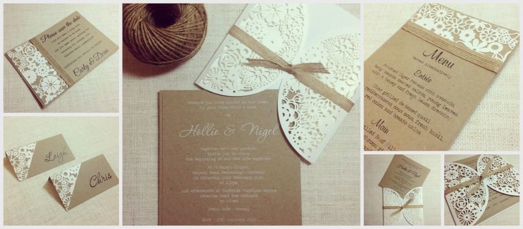 Rustic wedding invitations vintage designs laser cut wedding invitations