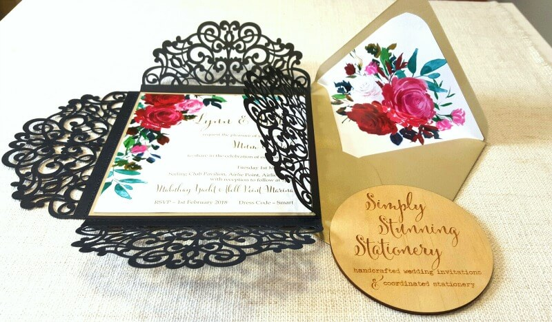 Simply-Stunning-Stationery-Wedding-Invitations-Romantic-Watercolour-Flowers-Lasercut-Black-sml