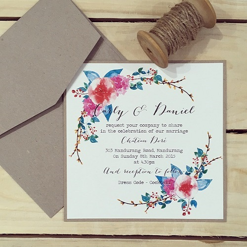 Simply-Stunning-Stationery-Wedding-Invitations-Flat-Printed-Floral-BARGAINS