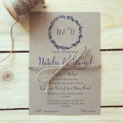 Simply-Stunning-Stationery-Wedding-Invitations-Flat-Printed-Rustic-BARGAINS